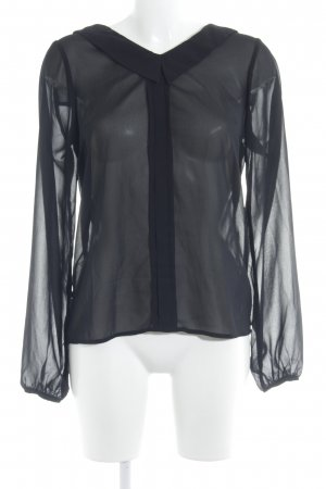 Vila Transparenz-Bluse schwarz Casual-Look