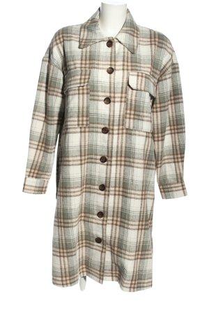 Vila Between-Seasons-Coat check pattern casual look