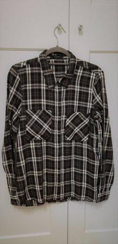 Vila Clothes Chemise de bûcheron blanc-noir