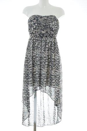 Vila Vokuhila-Kleid schwarz-weiß Allover-Druck Elegant