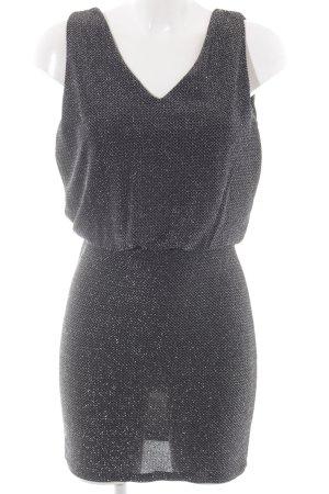 Vila Volantkleid schwarz-silberfarben Elegant