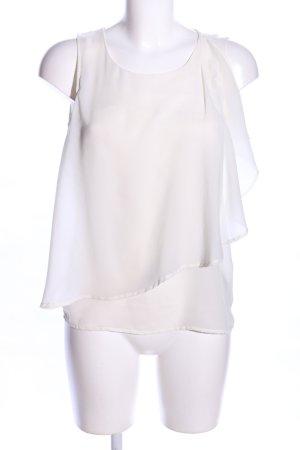 Vila Top con balze bianco stile casual