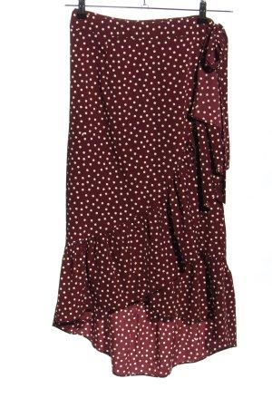 Vila Wraparound Skirt red-white allover print casual look