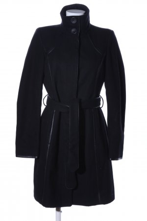 Vila Cappotto in lana nero stile professionale