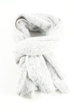 Vila Bufanda de lana gris claro-blanco estilo «business»
