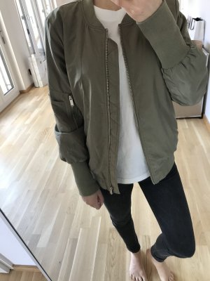 Vila Bomber Jacket khaki-green grey