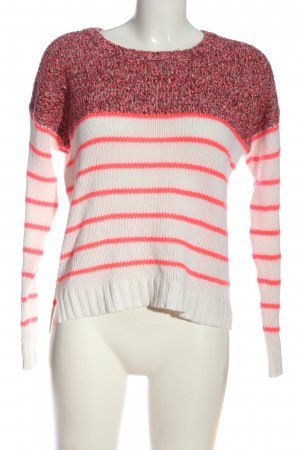 Vila Cable Sweater pink-white flecked casual look