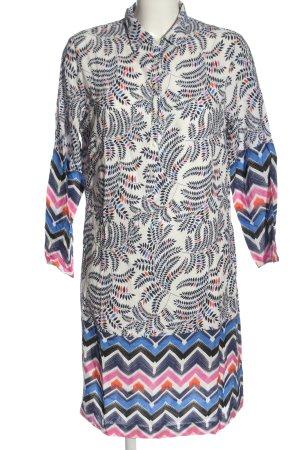 Vilagallo Abito blusa camicia stampa integrale stile casual