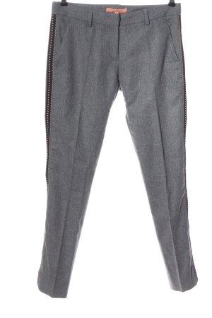 Vilagallo Pantalón de lana gris claro moteado estilo «business»