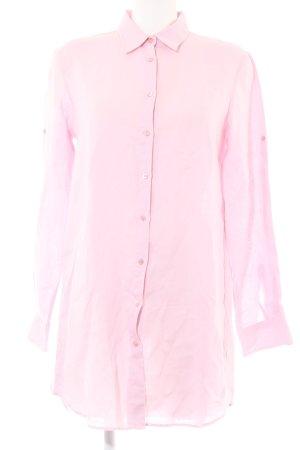 Hemdblousejurk roze casual uitstraling