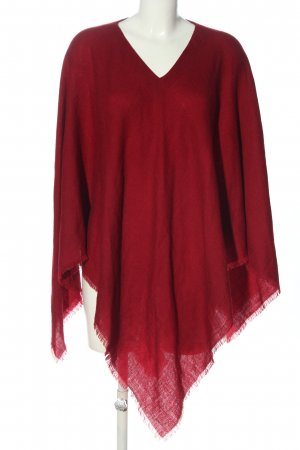 villa cashmere Ponczo z dzianiny czerwony W stylu casual