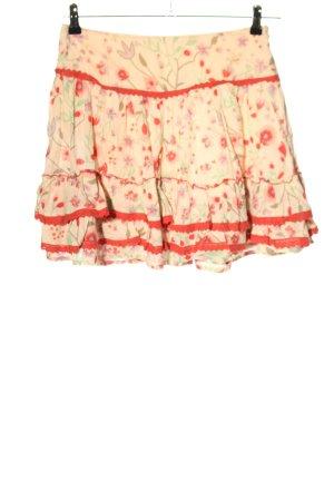 Villa Plisowana spódnica kremowy-czerwony Na całej powierzchni W stylu casual