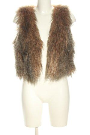 Villa Fake Fur Vest brown elegant