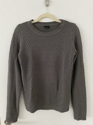 Villa Cienki sweter z dzianiny taupe