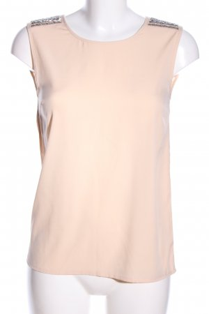 Villa Transparentna bluzka kremowy W stylu casual