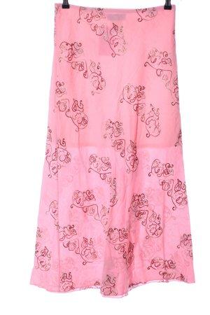 Villaggio Midirock pink-rot abstraktes Muster Casual-Look