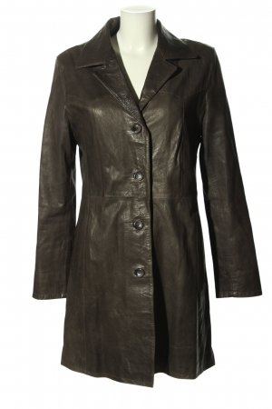 Vimapel Leather Coat brown casual look