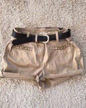 Cambio Pantalón corto de talle alto camel-beige