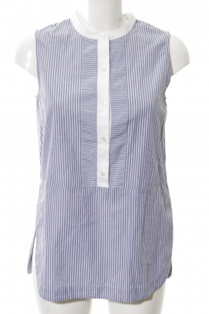 Vince ärmellose Bluse blau-weiß Streifenmuster Business-Look