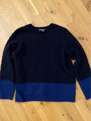 Vince Blau wolle colorblock Pullover
