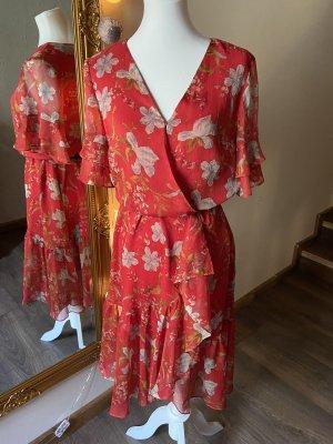 Vince Camuto Chiffon Dress red-orange