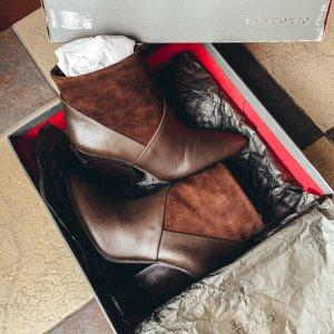 Vince Camuto Raylan High Heels Wedges Ankle Boots Leder Pumps Booties elegant vintage klassik