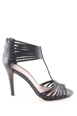 Vince Camuto Strapped pumps black animal pattern elegant