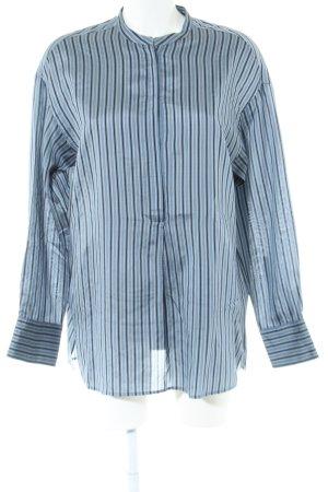 Vince Langarm-Bluse blau-schwarz Streifenmuster Business-Look