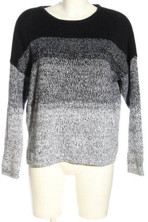 Vince Oversized Pullover schwarz-hellgrau meliert Casual-Look