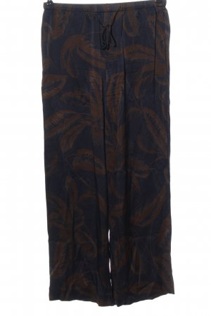 Vince Jersey Pants blue-brown allover print casual look