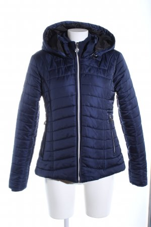 Quilted Jacket blue quilting pattern casual look