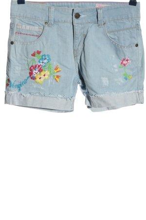 vingino Denim Shorts blue flower pattern casual look