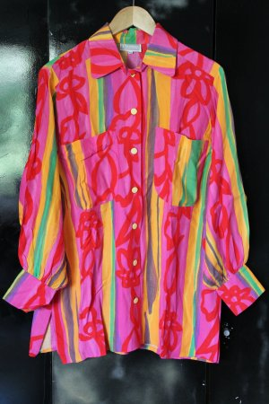Ae boutique BY ELEGANCE S.A. PARIS Camisa de manga larga multicolor Poliuretano