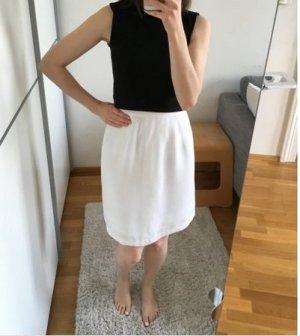 Vintage Spódnica z wysokim stanem biały Bawełna
