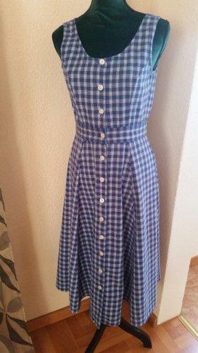 Vintage Vestido con enagua blanco-azul oscuro