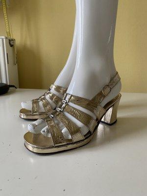 Vintage Love Strapped Sandals gold-colored