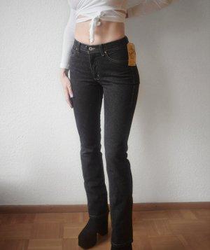 Guess Jeans a vita alta nero Cotone