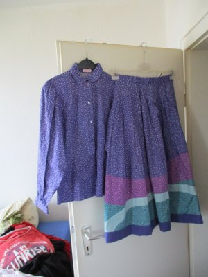 Traditional Skirt lilac-white