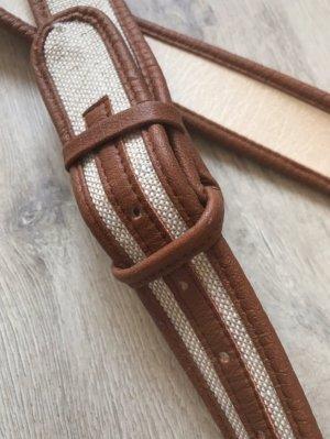 Cintura in tessuto beige