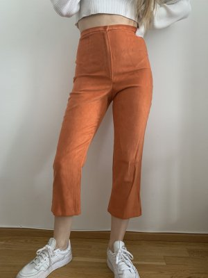 Vintage 3/4 Length Trousers light orange-orange