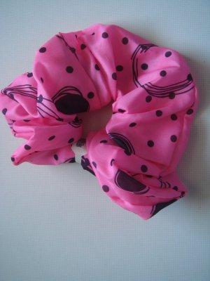 Vintage Pinza para el pelo negro-rosa neón