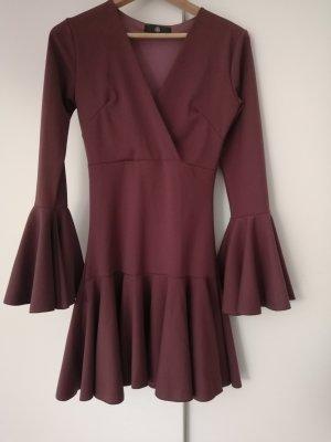 Vintage Beach Dress brown violet