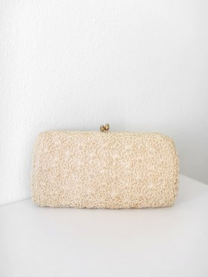 beclaimed vintage Clutch cream-natural white