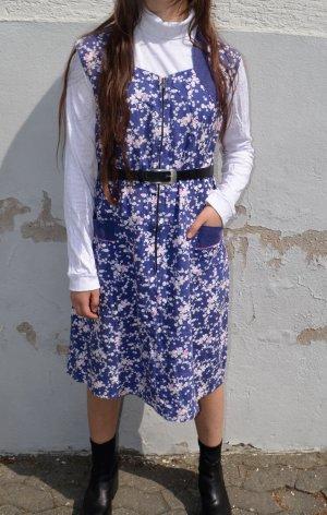 Vintage 70s Kleid mit Taschen S/M/L