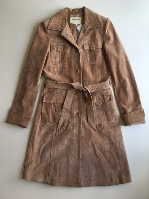 Ann LLewellyn Leather Coat multicolored leather