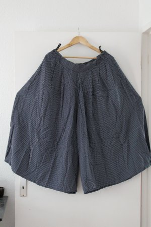 3/4-broek donkerblauw-wit