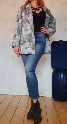 Vintage 80er 90er Jacket Sakko gemustert Gr.36 oversize Gr.38/40 normal, Pia Parelli