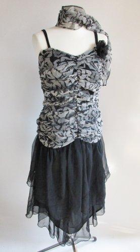 Chiffon jurk veelkleurig Polyester