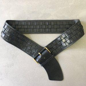 Adolf Cinturón de cadera negro-color oro