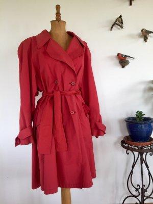 Vintage 80er Jahre roter Trenchcoat